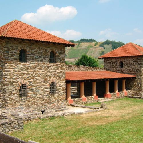 Blick auf die Villa Rustica in Mehring